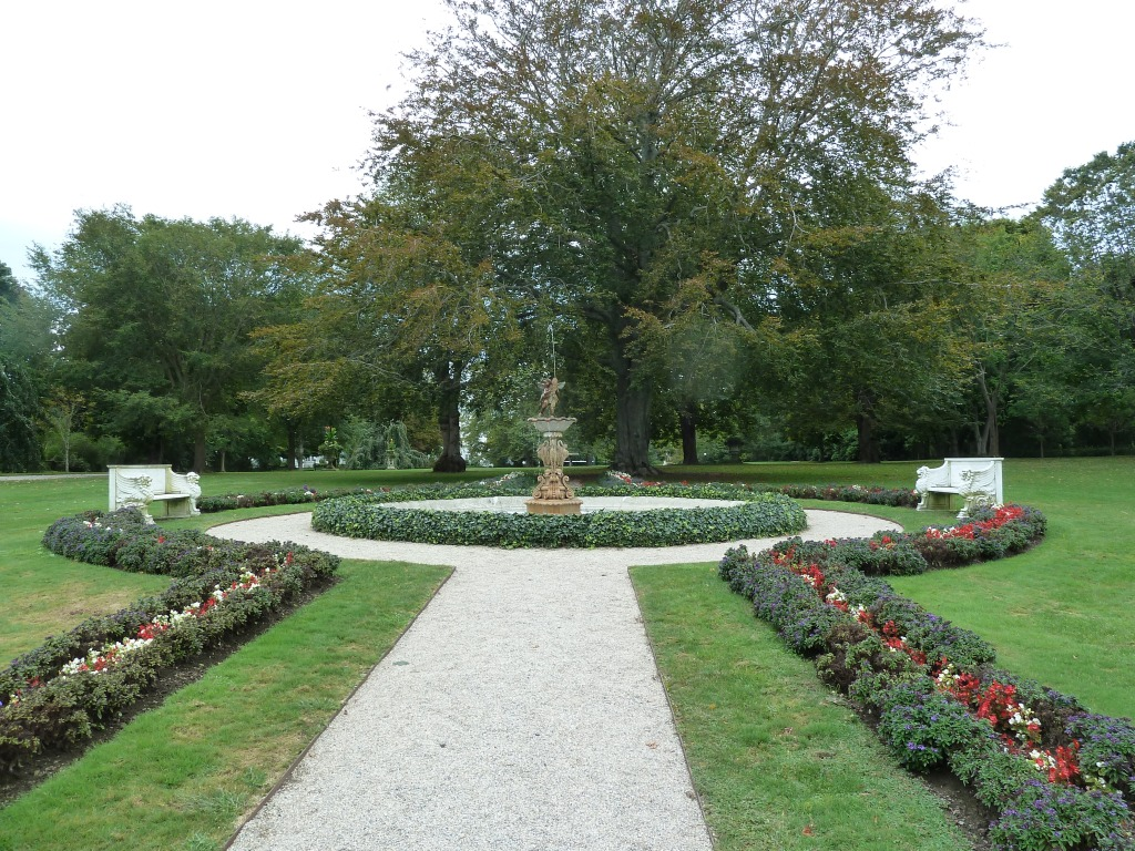 Garden In Front Of Rosecliff