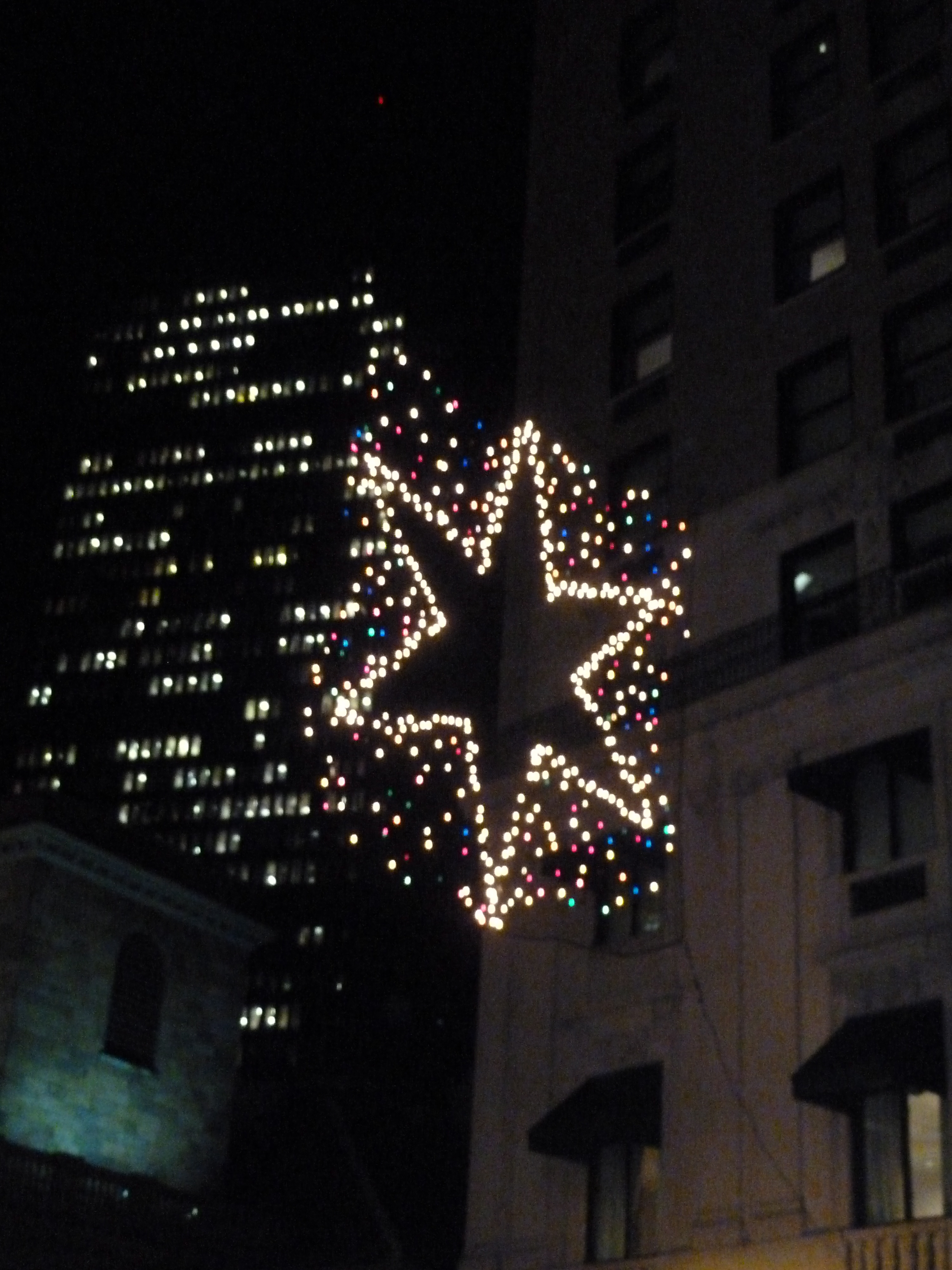 Beautiful star over streets in Boston