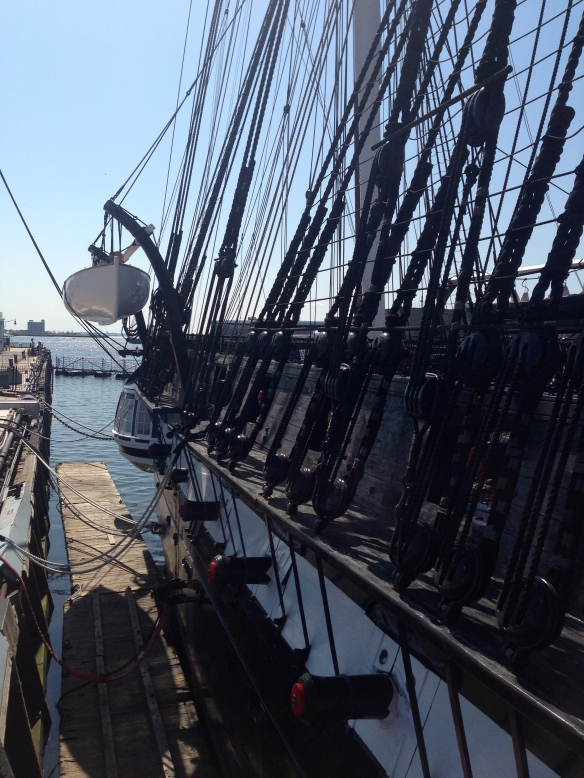 A view as you board the U.S.S. Constitution