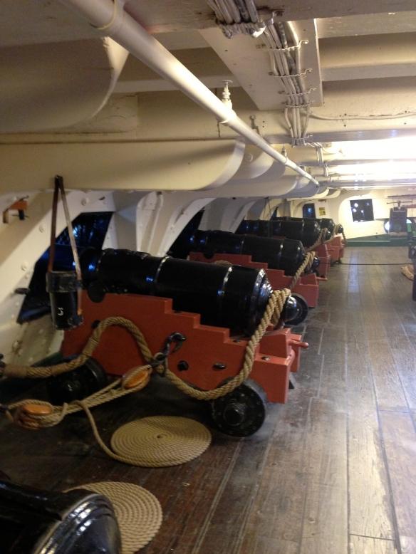 A view of the Gun Deck