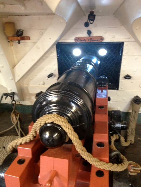 A cannon with its name in front