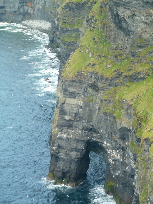 A closeup of the Cliffs of Moher