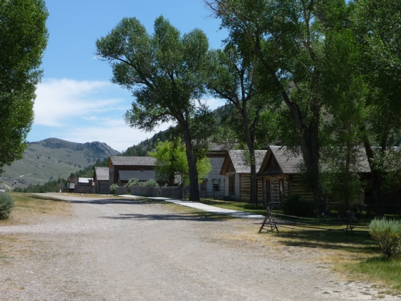 A view up Bannack's main street from the entrance